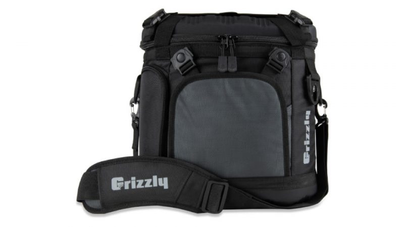Front View Of Grizzly Drifter 20 Soft Sided Cooler In Black/Gunmetal