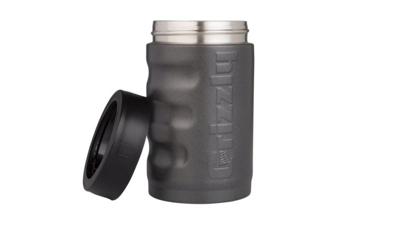 12 oz grizzly can cooler/can koozie in textured charcoal