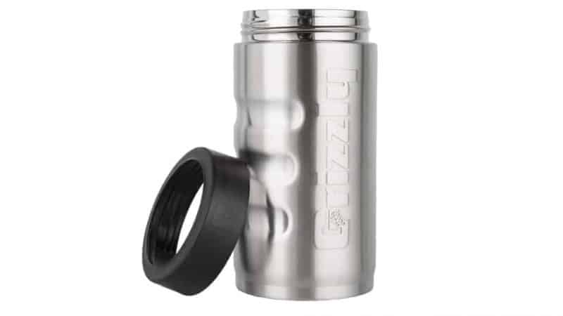 front view with push on ring off of 12 oz can cooler