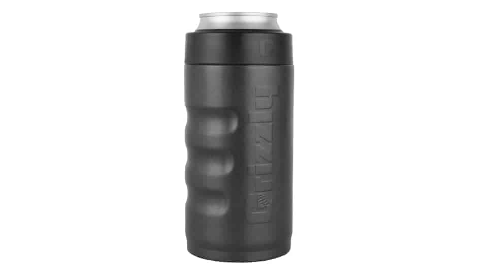 textured charcoal 16 oz can cooler