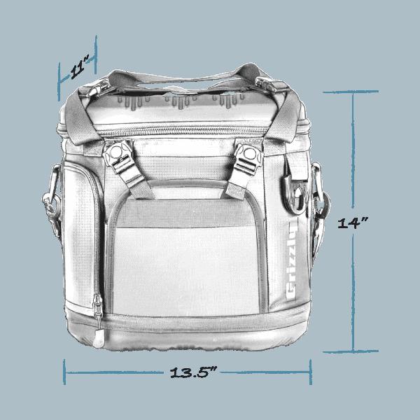 drifter 20 soft cooler with external dimensions