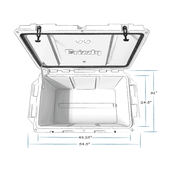 grizzly 400 top view dimensions