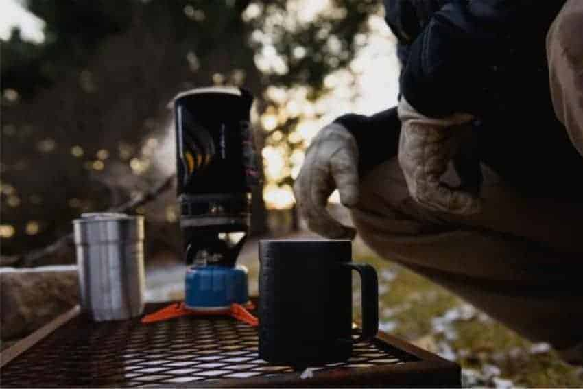camp cup at campsite