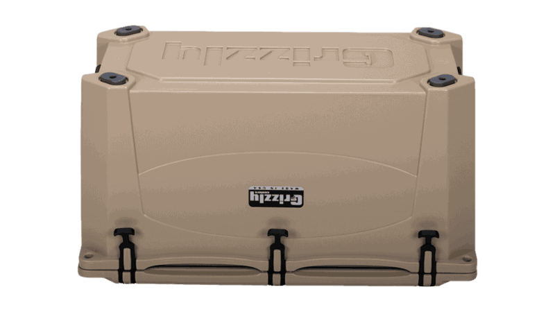 Tan Grizzly 100 Cooler, Bottom View