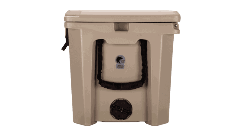 Side View Of Grizzly 75 Cooler With 2 Inch Drain Plug