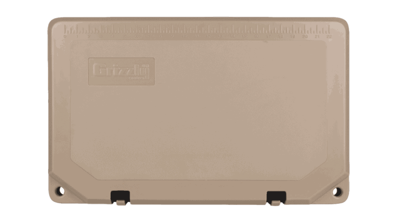 grizzly 40 quart tan cooler lid