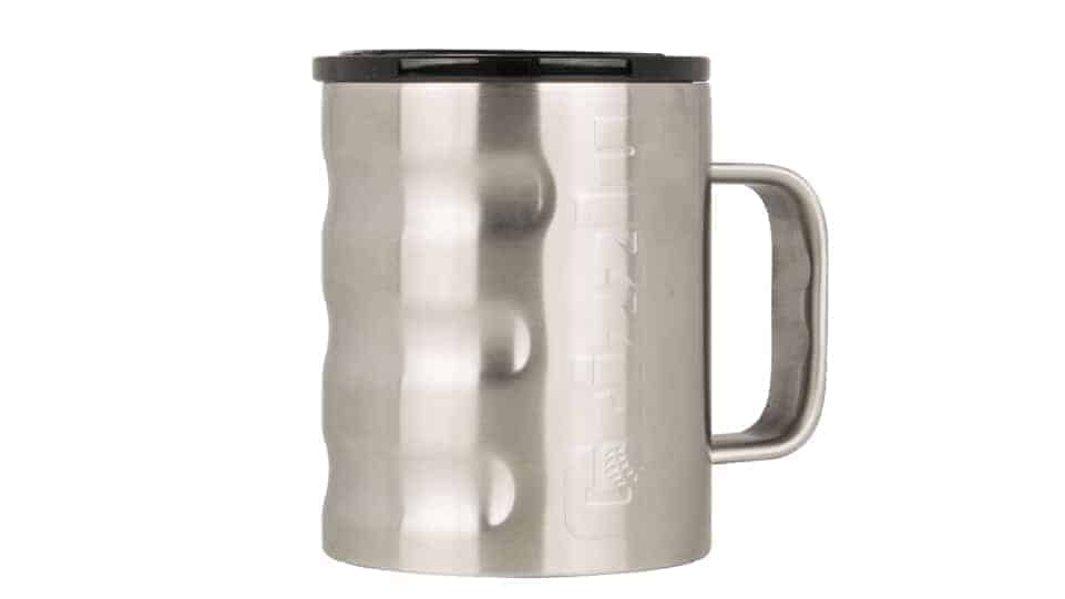 insulated coffee cup - brushed stainless