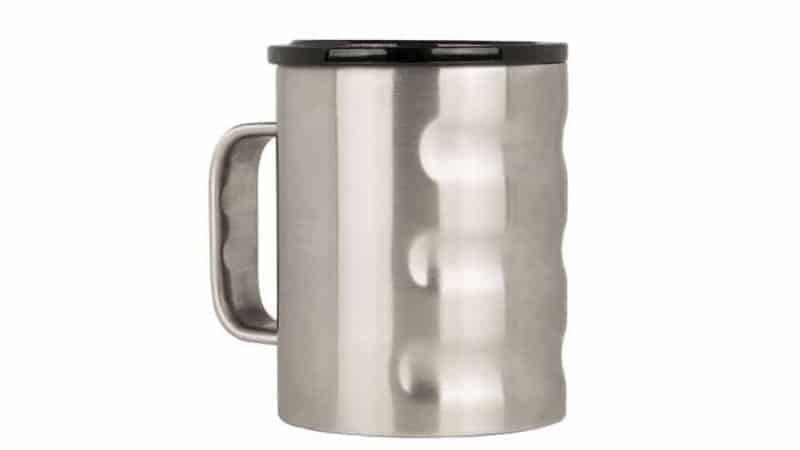 brushed stainless finish Grizzly Camp Cup