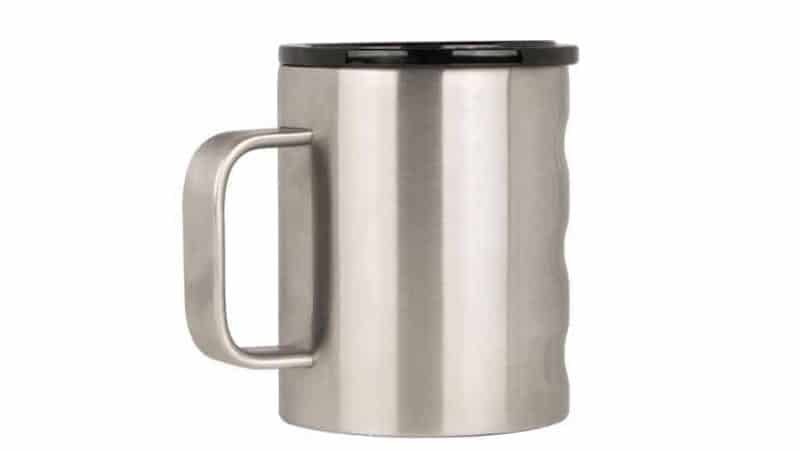 11 oz Camp Cup with brushed stainless finish