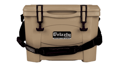 Tan - Grizzly 15 - Front View with Carry Strap