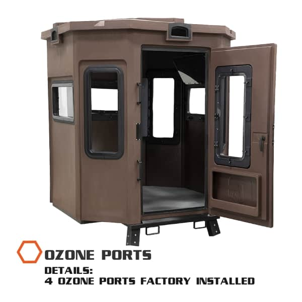 hunting blind with ozone ports