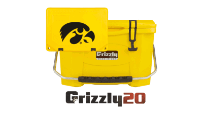 Iowa Hawkeye tailgate Cooler
