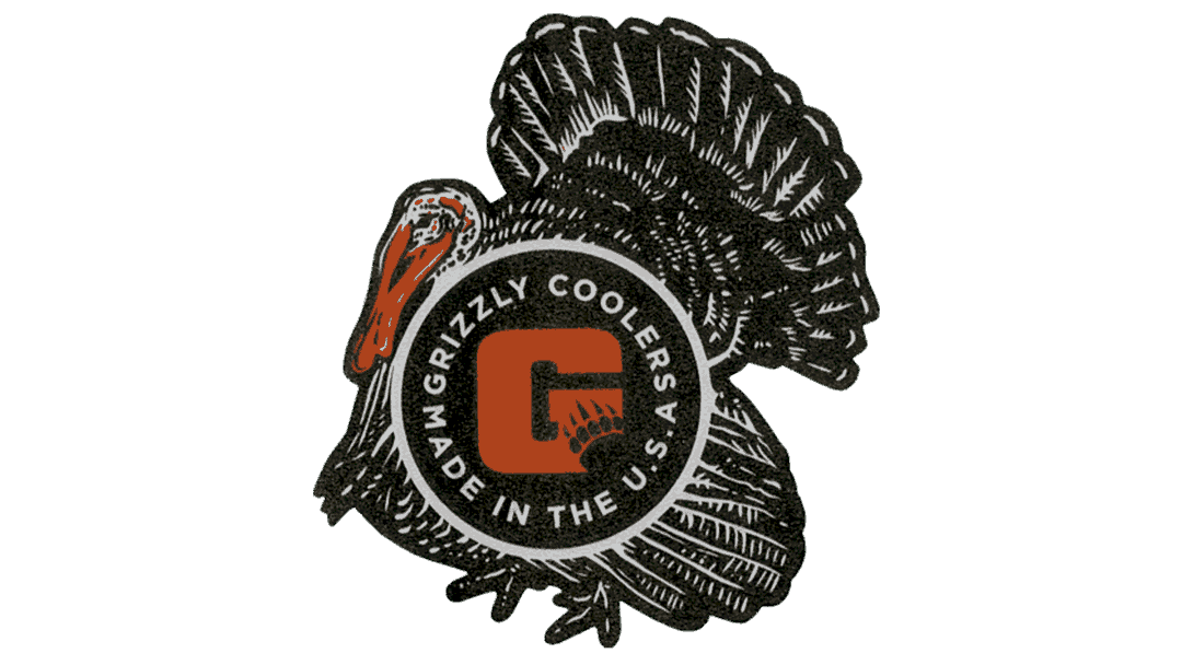grizzly coolers turkey sticker for coolers