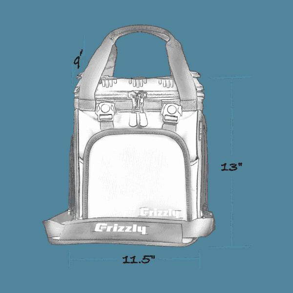 drifter 12+ soft cooler with external dimensions