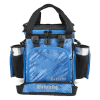 front view with grip cups in grizzly drifter 12+ soft cooler in RealTree Fishing Blue