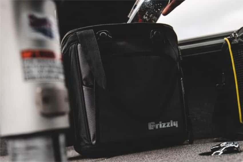 removing a cold beverage from a drifter 12+ soft sided cooler bag
