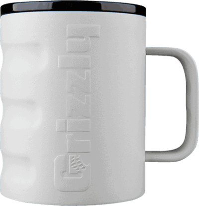 grizzly grip camp cup with textured sand finish