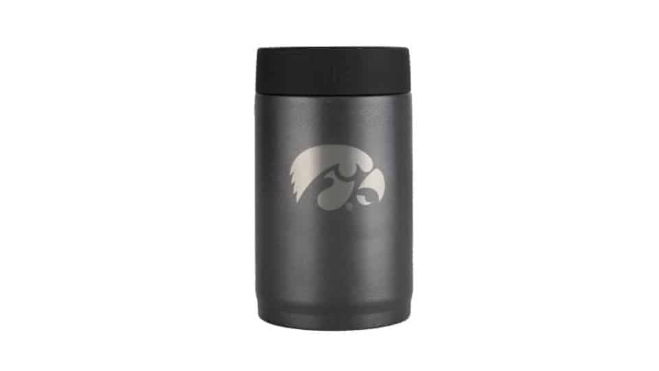 iowa hawkeyes stainless steel can cooler