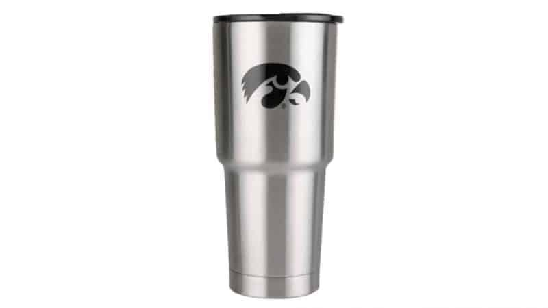 32 oz stainless steel iowa hawkeye cup