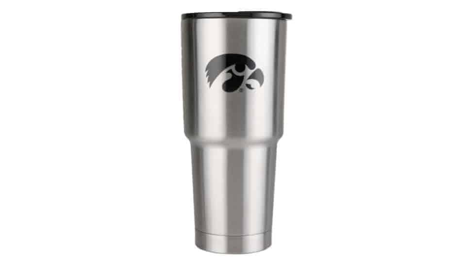 32 oz stainless steel iowa hawkeye cup