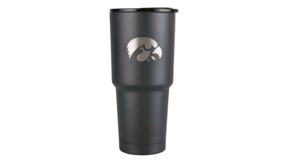 32 oz textured charcoal Iowa Hawkeyes cup