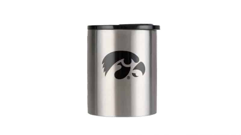 stainless steel grizzly grip rocks with iowa hawkeyes logo