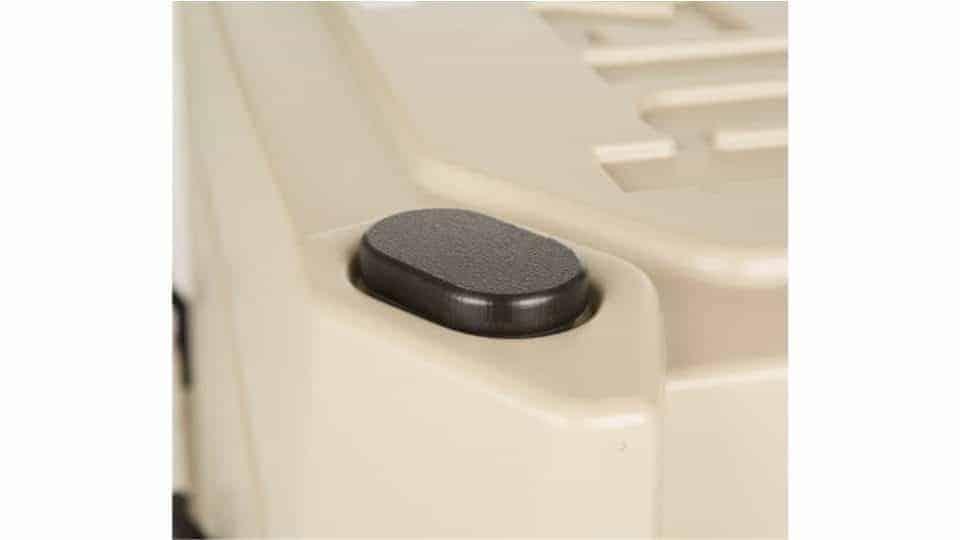 sliding feet accessory on hard sided cooler