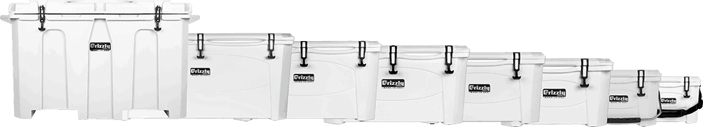 grizzly rotomolded hard sided cooler product lineup