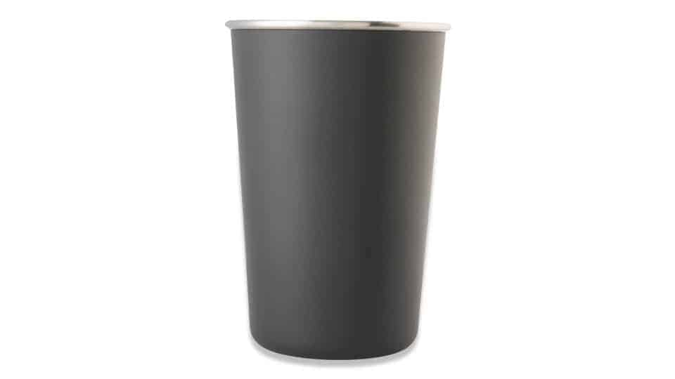 16 oz single walled tumbler in textured charcoal