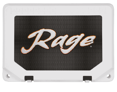 custom cooler adhesive graphic example on cooler lid