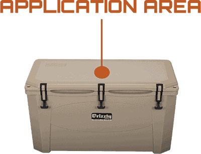 Application Area Grizzly 100 Hard Sided Cooler