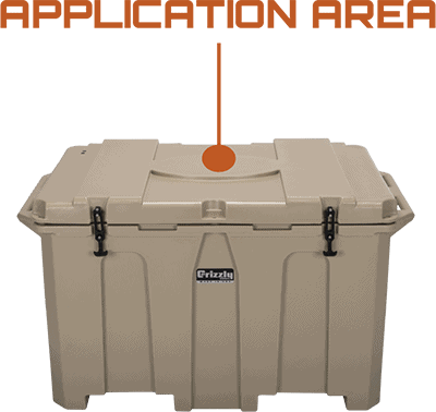 Application Area Grizzly 400 Hard Sided Cooler