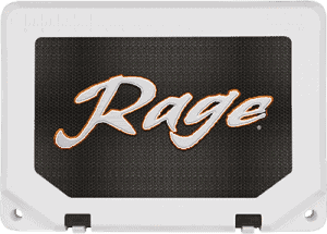 custom cooler example using adhesive graphics on cooler lid