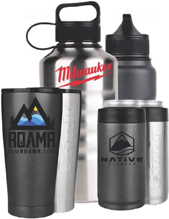 custom stainless steel drinkware examples