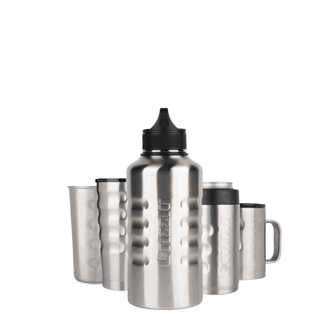 grizzly stainless steel drinkware
