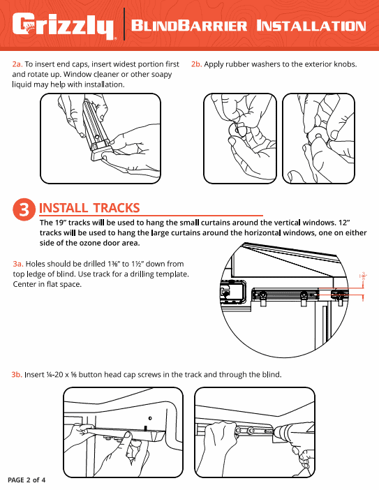 grizzly box blind insulation instructions page 2 of 4