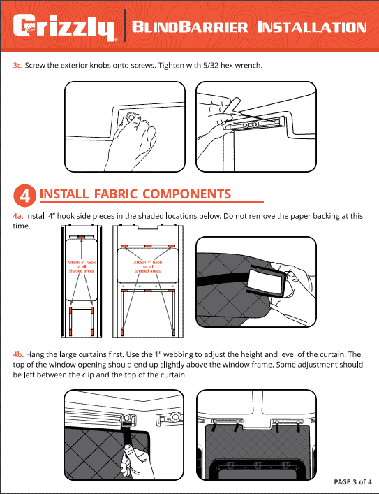 grizzly box blind insulation instructions page 3 of 4