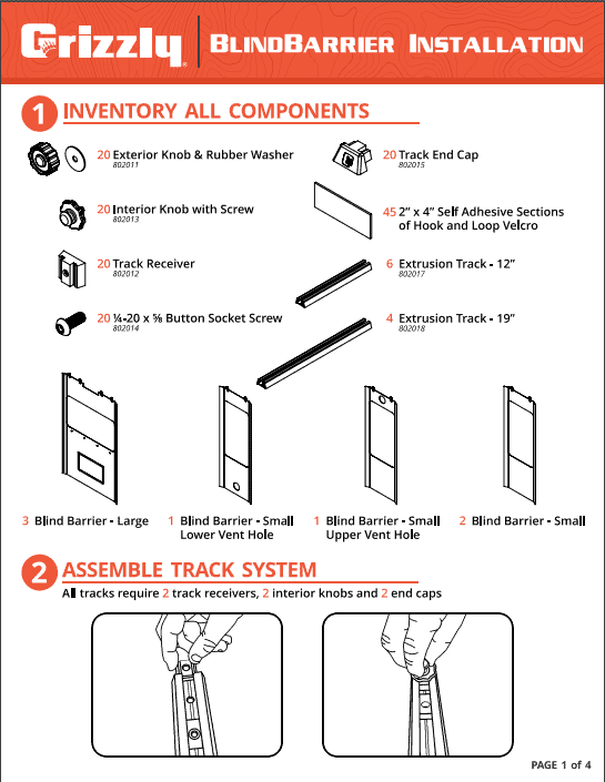 grizzly box blind insulation instructions page 1 of 4
