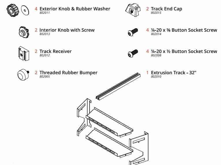 approach shelf parts list