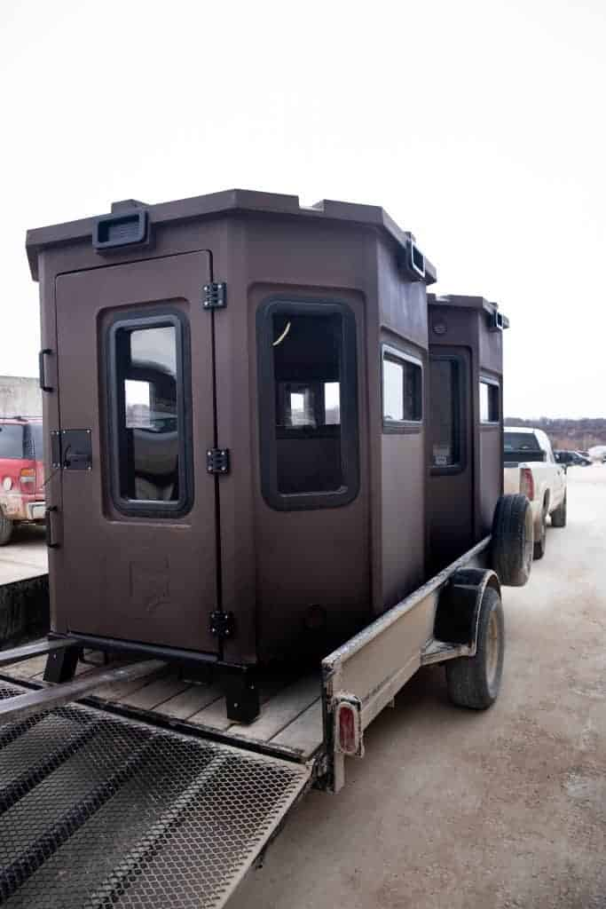 Grizzly Box Blinds Loaded Onto Trailer For Transport