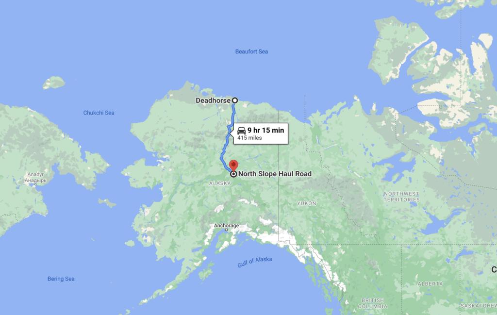 Dalton Highway Route Map Screenshot