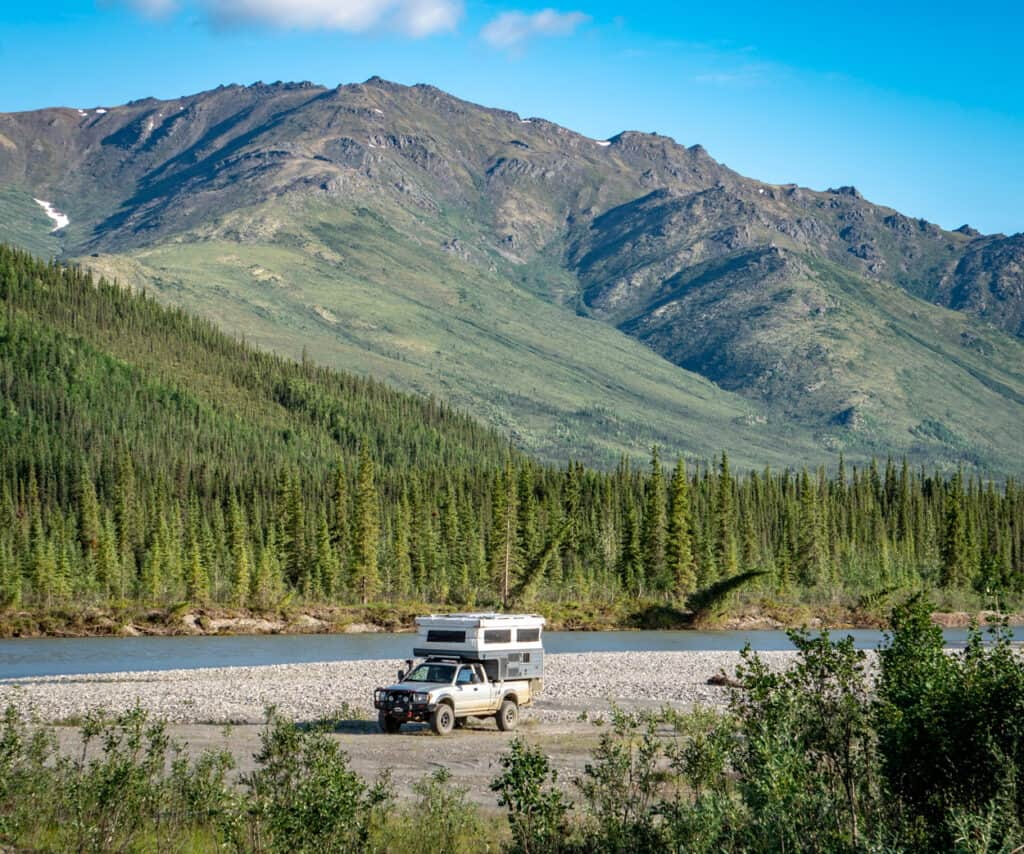 Dalton Highway With Jeep