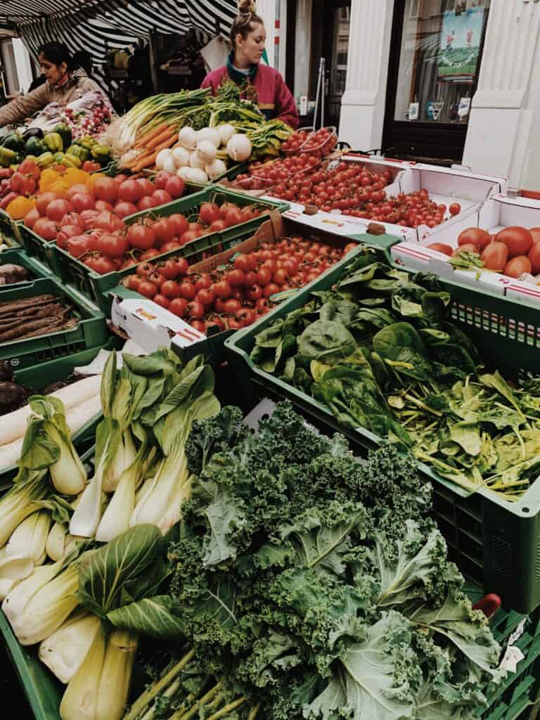 Fresh Produce On Display At A Farmers Market