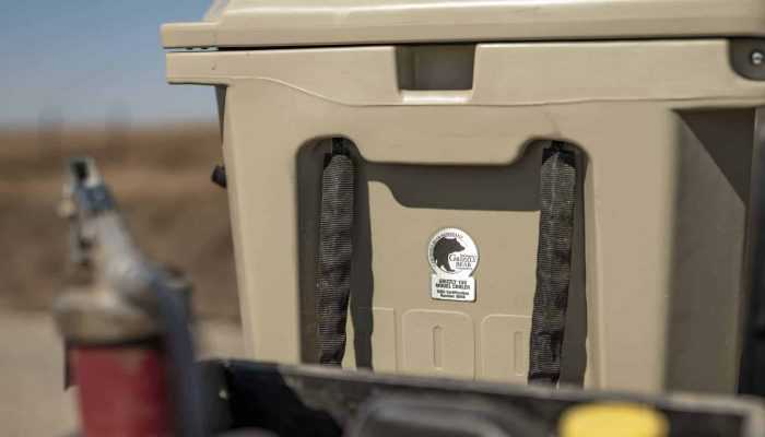 what makes a cooler bear proof, IGBC certified seal on grizzly cooler