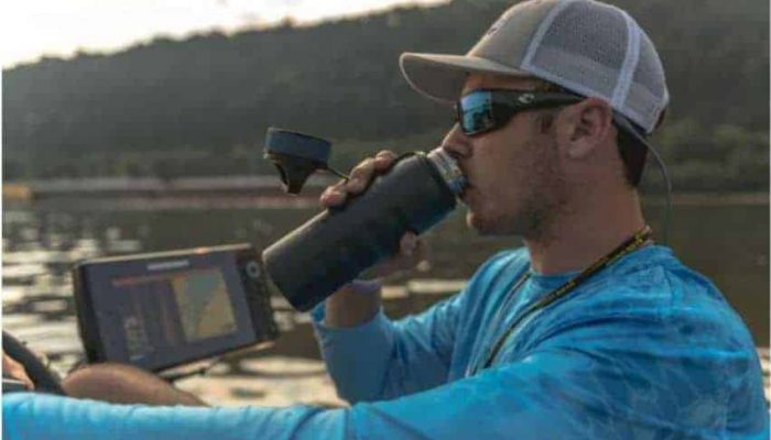 fishing with grizzly coolers, insulated water bottle stainless steel